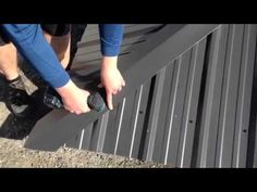 How to Install Standing Seam Metal Roofing - Hip Cap - YouTube