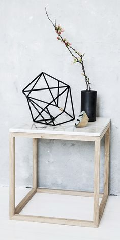 Kristina Dam - The Cube Table - hvid marmor Decor, Cube Table, Interior, Interior Inspiration, Marble Coffee Table, Decor Inspiration, House Interior, Home Deco, Interior Design