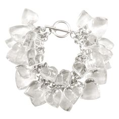 Womens Clear Heart Charms Bracelet  - shop now at agiftfromthegods.com!