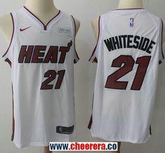 8a532240832d NBA Miami Heat Jerseys · Men s Nike Miami Heat  21 Hassan Whiteside White  NBA Swingman Association Edition Jersey