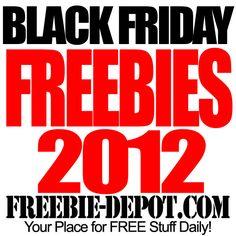 FREE Black Friday Stuff 2012