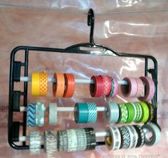 washi tape storage idea + loads more in this post