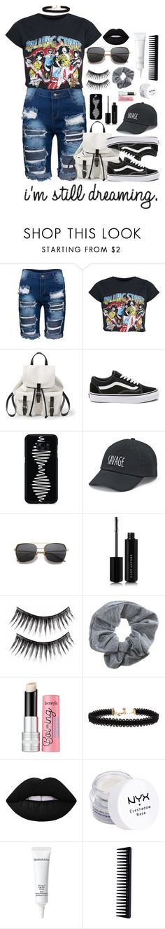 """Still Dreamin' of Being A RockStar"" by essentiallyessence on Polyvore featuring Steve Madden, Vans, Samsung, SO, Marc Jacobs, Topshop, Benefit, Vanessa Mooney, Lime Crime and NYX"