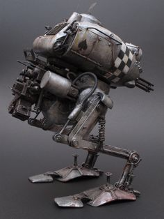 "Kröte  ""checkerboard pattern"". NITTO Ma.K. 1/20 scale. By Chike. #Ma_K #Maschinen_Krieger #Krote http://www.fg-site.net/archives/post_old/78748"