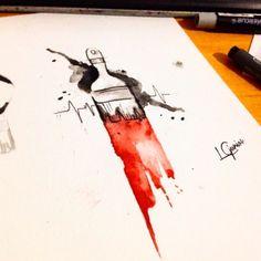 Paint Brush Tattoo • #tattoo #sketch #lcjunior #watercolortattoo #watercolor #aquarela #pincel #minhavida #art #arte