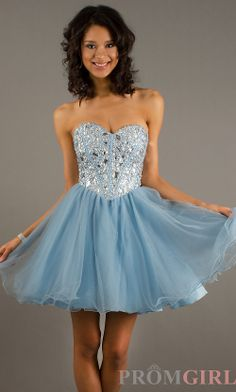 Light Blue Short Prom Dresses | ... light blue Short strapless ...