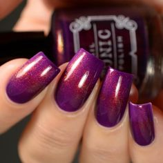 "Serendipity is an ode to one of our best-selling colors, ""Lula"", but with unicorn pee!! A warm toned purple with the ubiquitous red to green shifting unicorn pee shimmer. Recommended application is two medium-thick coats finished off with Tonic Topper to smooth and enhance the color, but VNL sticklers may prefer a third coat. All Tonic nail polishes are 15ml, 5 Free (which means free of the chemicals toluene, formaldehyde, dibutyl phthalate, camphor, and formaldehyde resin), cruelty..."