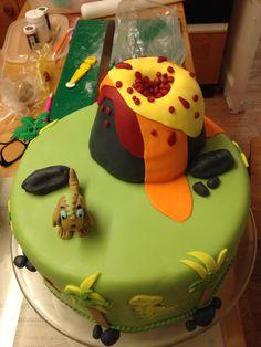 Another view of the Dino Cake