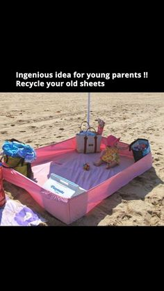 Wonderful idea for beaching it!!! Will use this summer