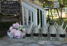 100 Wedding Chalkboard Labels Vinyl Chalk by CharlieChalkDesigns - would love this for the wedding favor/everyone's drinking cups