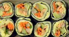 Paleo Sushi - substitute egg for rice, genius! (And leave out the fish, of course!)