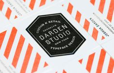 Darden Studio business card designed by Mucca Design