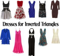 """""""Dresses for Inverted Triangles-SS"""" by kittyfantastica on Polyvore"""