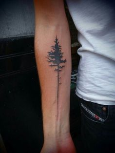 Tree tattoo + voice sound wave