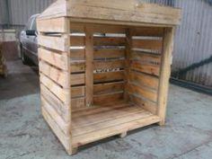 Pallet log shed