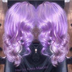 Lavender Blossoms by Kayla Mauceri Lavender hair Mermaid Waves Pastel Hair fb.com/hotbeautymagazine