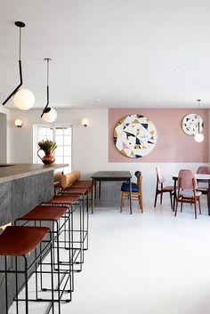 ATELIER RUE VERTE , le blog: Afrique du sud / Mulberry&Prince : du rose pour un restaurant /