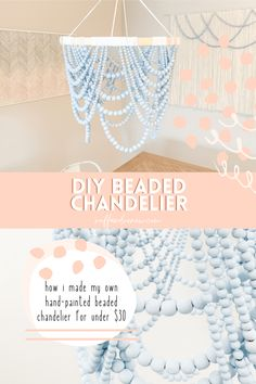 How To Make A Chandelier, Wood Bead Chandelier, Chandeliers, Home Crafts, Fun Crafts, Diy And Crafts, Diy Projects To Try, Craft Projects, Craft Ideas