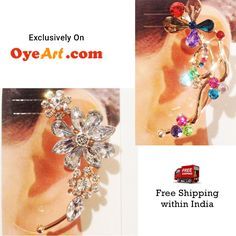 I wish it was my birthday. Love presents like that - adorable Ear Cuffs. You can get these beauties here ==> http://bit.ly/1cHUxYD at just ₹375 till June 15th.