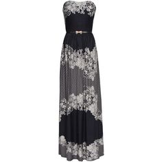 Floral Print Maxi-Dress ❤ liked on Polyvore