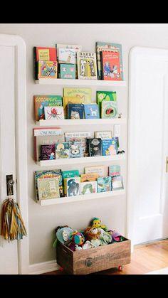 Book wall for a nursery