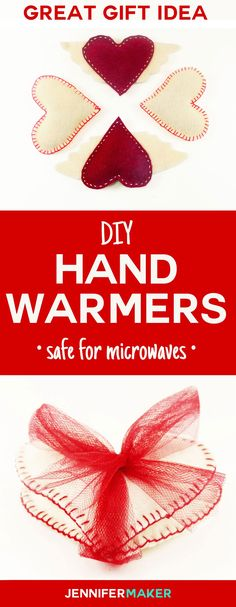 How to make DIY hand warmers! These homemade hand warmers make great #Christmas gifts! You can make them with rice and wool felt for an all-natural and reusable toasty warm treat. Get the pattern and tutorial here.