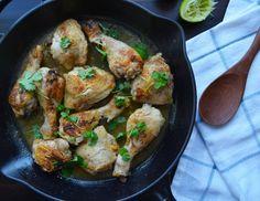 Kylling m koriander- og limesaus