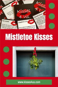 It's been a long year so we need to make the holidays extra special! Hang some mistletoe and draw Kiss Cards from your Kisses 4 Us box all season long. Create a special memory!
