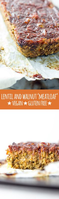 This glazed vegan loaf is made with lentils, walnuts, vegetables, oats, polenta and chia seeds, which altogether combine to create a savoury and flavourful loaf for those times when you just need some good old fashioned comfort food. #vegan #vegetarian #glutenfree #eggfree #dairyfree #soyfree #healthy #plantbased #wholefoods #loaf #meatloaf #nutloaf