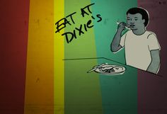 Diner, Drive ins and Dives recommends Dixie Quicks in Council Bluffs -- great art exhibits in their adjacent hall and downright good food!