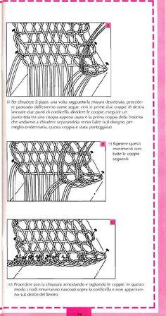 #ClippedOnIssuu from Mani di Fata - Il Pizzo di Cantù speciale scuole 05/14 Bobbin Lacemaking, Bobbin Lace Patterns, Point Lace, Needle Lace, Lace Making, Techno, Needlework, Embroidery, Rococo