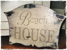 Cottage VINTAGE BEACH HOUSE sign-Vintage BEACH HOUSE SIGN, Cottage Shabby Decor WHOLESALE, Leslie Woods-Meyers, Meyers Designs, Paris, Paris sign, Cottage décor, Country French, French Country, Business, office, home decor, walls, plaques, chippy, vintage, shabby, cottage, handcrafted, chic, antique, shop, store, boutique,handpainted, distressed, aged, window, My Painted Porch, sign, signs, custom, customized, personalized, store, romantic, anniversary gift, birthday, Mother's Day, baby's…