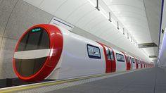 シーメンスのロンドン地下鉄コンセプトモデルのデザイン(Siemens press picture)