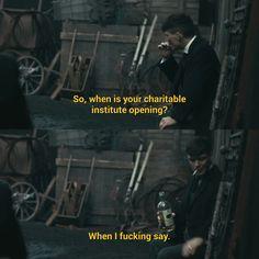 Thomas Shelby is such a savage #peakyblinders Peaky Blinders season 3 episode 2