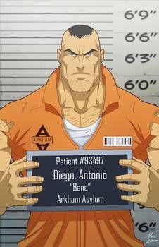 Antonio Diego/Bane locked up commission (by:phil-cho on Gotham Villains, Comic Villains, Superhero Characters, Dc Comics Characters, Super Villain Names, Comic Character, Character Design, Batman Universe, Dc Universe