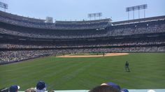 THINK BLUE: Dodger game last Sunday  by non.lethal