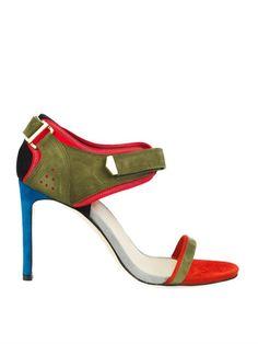 Preen By Thornton Bregazzi Surfer stiletto suede sandals