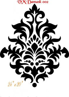 RGB-Stencils could really make a dramatic statement.damask stencil - Bing Imagens More Stencils, Damask Stencil, Stencil Diy, Wall Stencil Patterns, Stencil Designs, Damask Patterns, Faux Painting, Stencil Painting, Printable Designs