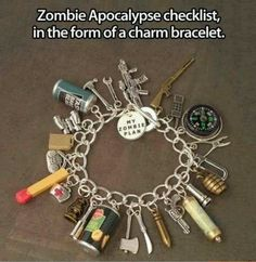 this would be helpful, as i would most likely forget just about everything in a zombie apocalypse