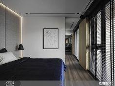現代風的裝潢圖片為近境制作的設計作品,該設計案例是一間總坪數為53,格局為兩房,更多近境制作設計案例作品都在設計家 Searchome Arch Interior, Interior Design, Design Apartment, Texture Design, Interior Inspiration, Guest Room, New Homes, House Design, Bedroom