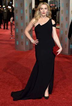 Kate Winslet en robe Antonio Dorani aux BAFTAs 2016 à Londres