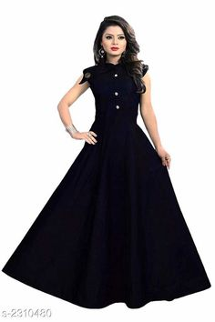 Gowns Mahika Attractive Taffeta Silk Gown Fabric: Taffeta Silk Inner - Cotton Sleeves:  Sleeves Are Attached Inside Size: L - 40 in XL - 42 in  XXL- 44 in Length: Up To 56 in Type: Stitched Description: It Has 1 Piece Of Women's Gown Pattern : Solid Country of Origin: India Sizes Available: L, XL, XXL   Catalog Rating: ★4 (487)  Catalog Name: Mahika Attractive Taffeta Silk Gown Vol 12 CatalogID_308238 C79-SC1289 Code: 972-2310480-417