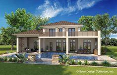 "Sater Design's ""Sondelle"" Rear Elevation l Luxury House Plans l Home Designs #twostoreyhomeplans"
