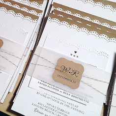 DIY wedding invitations...made with love
