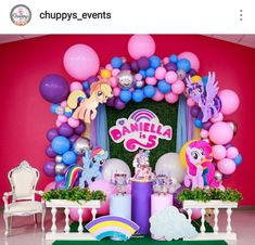My Little Pony Dessert table and Decor Festa Do My Little Pony, Fiesta Little Pony, My Little Pony Baby, My Little Pony Rarity, Little Pony Cake, My Little Pony Birthday Party, Birthday Parties, My Little Pony Decorations, Girls Party Decorations