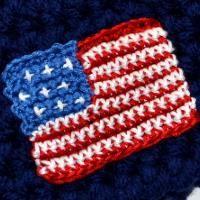 American Flag Embellishment (free pattern)