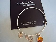 ALEX & ANI NOVEMBER BIRTHSTONE TOPAZ RUSSIAN SILVER BANGLE TRADITIONAL BRACELET - http://designerjewelrygalleria.com/alex-ani/alex-ani-november-birthstone-topaz-russian-silver-bangle-traditional-bracelet-2/
