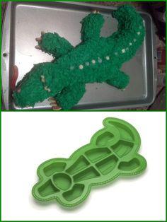 "(Go Gators!)  Roshco ""Create and Celebrate"" Alligator Pull-Apart Cupcake Silicone Baking Pan"