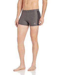 9fe99e7c59 Speedo Men's Xtra Life Lycra Shoreline Square Leg Swimsuit, Black, Small.  Swimming GearFashion ...