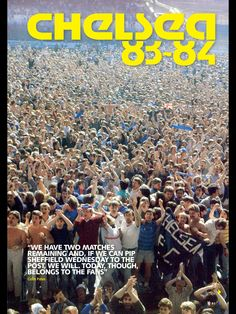 CFC 1983/84 Chelsea Fc Players, Fc 1, Chelsea Football, Football Program, Working Class, Retro, Sports, Hs Sports, Sport